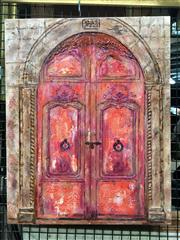 Sale 8659 - Lot 2158 - Stanley Perl - Doors of India, no.16 acrylic on canvas, 51 x 40.5cm, signed and inscribed verso -