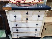 Sale 8740 - Lot 1663 - Vintage Painted Chest of Drawers