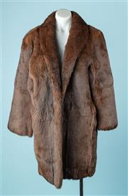 Sale 9027F - Lot 39 - A 3/4 sable fur coat with silk lining, size M