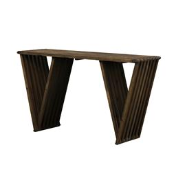 Sale 9140F - Lot 224 - A modern take on a classic Mid century design. Coffee table made from reclaimed Solid Elm the top consists of interlocked slats. The...