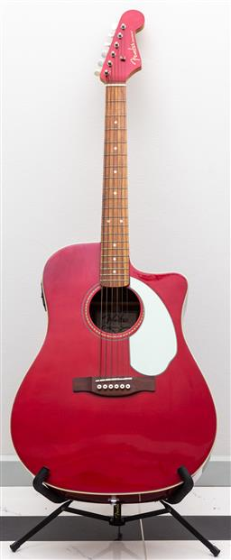 Sale 9162H - Lot 62 - A red Fender Sonoron acoustic guitar, California series, no. CSH08009272