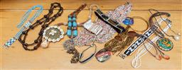 Sale 9165H - Lot 123 - A lare quantity of costume jewellery to include conch, abalone and beaded examples.