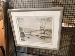 Sale 9176 - Lot 2167 - Diana Watson Xanadu watercolour 38.5 x 49 cm, signed and titled lower right -