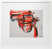 Sale 8161A - Lot 10 - Andy Warhol (1928 - 1987) After. - Gun, c.1981-82 49 x 62cm (frame size 88 x 98cm)