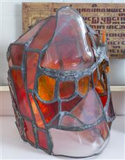Sale 8800 - Lot 76 - Irene Kindness, Mythos, glass helmet, H 30cm, A/F