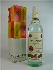 Sale 8340A - Lot 976 - 1x Ron Bacardi Light-Dry White Rum, Mexico - 40% ABV, old bottling, 750ml in box