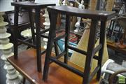 Sale 8338 - Lot 1153 - Pair of Timber Stools