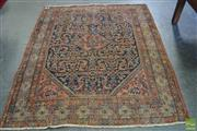 Sale 8520 - Lot 1062 - Antique Feraghan Rug with Herati Pattern on a Black Field (190 x 151cm)