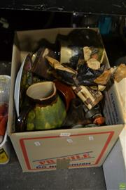 Sale 8563T - Lot 2306 - Box of Sundries incl Pottery & Other Ceramics, Figures, etc