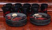 Sale 8815A - Lot 29 - A Fitz and Floyd twelve piece setting, including mugs and plates in the imperial garden pattern