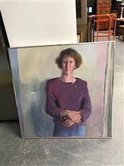 Sale 8853 - Lot 2071 - Robin Lawrence - Annabel Croll  oil on canvas, 93 x 93cm, signed -