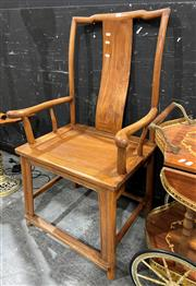 Sale 8901F - Lot 1002 - Pair of Chinese Elm Armchairs