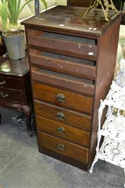 Sale 8093 - Lot 1432 - 7 Drawer Music Cabinet w Open Face