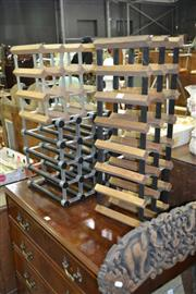 Sale 8115 - Lot 1073 - 3 Wine Racks