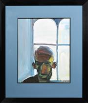 Sale 8259 - Lot 559 - Euan MacLeod (1956 - ) - The Watcher (Geoff), 1996 74 x 60cm