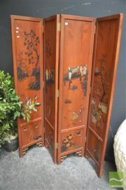 Sale 8299 - Lot 1012 - Korean Four Panel Wall Screen