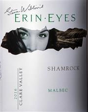 Sale 8494W - Lot 89 - 12 x 2016 Steve Wiblin's Erin Eyes 'Shamrock' Malbec – New Release, Clare Valley