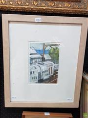 Sale 8587 - Lot 2083 - J Canfield - Mount Victoria Station, mixed media on paper, frame size; 47 x 40cm, signed lower right