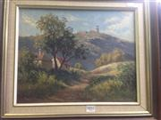 Sale 8663 - Lot 2031 - Stephen Sims - Country Scene, oil painting, 29 x 36.5cm, signed lower right