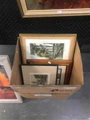 Sale 8751 - Lot 2072 - Assorted Artworks, including Chromolithographs and Antique Photographs