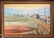 Sale 8759 - Lot 2003 - Artist Unknown - Rural Town,1969, oil on board, 68 x 98.5cm, signed lower right