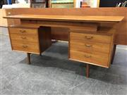 Sale 8967 - Lot 1044 - Quality Alfred Cox 1960s Teak Dressing Table with Curved Front (H:68 x W:152 x D:47cm)