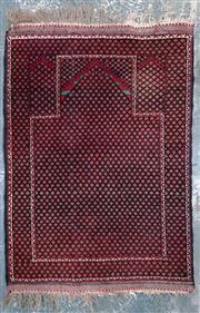 Sale 8971 - Lot 1019 - Handmade Afghan Ghazi in maroon and dark green (115cm x 80cm)