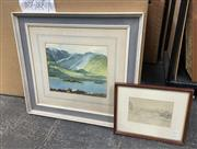 Sale 9077 - Lot 2062 - Two watercolours of New Zealand landscapes by unknown artists,