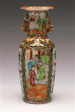 Sale 9110 - Lot 9 - A Famille Rose vase featuring characters (H:26cm)