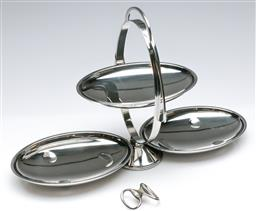 Sale 9164 - Lot 50 - An Alessi bottle opener together with a three tier cake stand (H:27.5cm)