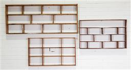 Sale 9255 - Lot 1024 - Collection of 3 timber shadow boxes (h:62 x w:154cm)