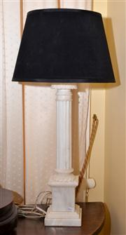 Sale 7997 - Lot 51 - LARGE WHITE CARVED MARBLE CLASSICAL COLUMN LAMP H: 51CM