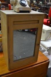 Sale 8115 - Lot 1105 - Small Timber Cabinet w Mirrored Door