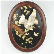 Sale 8342B - Lot 17 - Mother of Pearl Panel of an Eagle