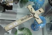 Sale 8276 - Lot 60 - Silver & Timber Crucifix