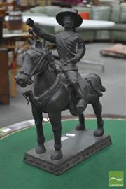Sale 8291 - Lot 1035 - King Taksin Bronze Equestrian Figure, the King modelled separately, on plinth base