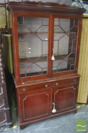 Sale 8326 - Lot 1358 - Glass Front Bookcase with Astragal Doors