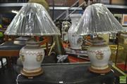 Sale 8326 - Lot 1283 - Pair of Danish Royal Collection Table Lamps (4481)