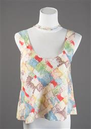 Sale 8499A - Lot 23 - A Marni (Italy), sleeveless cotton watercolour print top. Size: M.