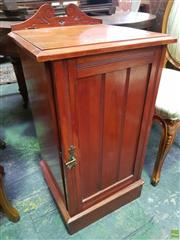 Sale 8634 - Lot 1076 - Late Victorian Pine Bedside Cabinet, with single door & plinth base