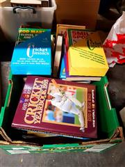 Sale 8659 - Lot 2338 - Box of Cricket Books incl. Worlds Best Cricket Book Ever; The Laughs on Us; Wide World of Sport Cricket Yearbook 1993; etc