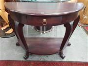 Sale 8669 - Lot 1099 - Bow Front Demi Lune Hall table