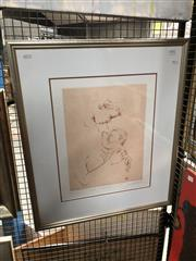 Sale 8845 - Lot 2064A - Louis Kahan Mother and Child VII 1988etching ed.11/50, 72 x 62cm (fram) signed