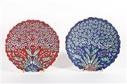 Sale 9003 - Lot 93 - Pair of floral themed cabinet plates (D18cm)