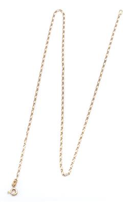 Sale 9194 - Lot 552 - AN 18CT GOLD CHAIN; figaro chain to a bolt ring clasp, length 45cm. wt. 2.50g