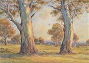 Sale 8000 - Lot 350 - Arnold Jarvis (1881 - 1959) - Untitled (Landscape with Gums) watercolour