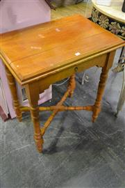 Sale 8087 - Lot 1059 - Maple Occasional Table on Turned Legs