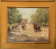 Sale 8313A - Lot 45 - Artist unknown - English school, riders in the street 37 x 45cm