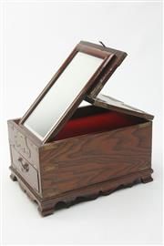 Sale 8673 - Lot 86 - Chinese Elm Fitted Jewellery Box