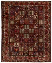Sale 8770C - Lot 14 - A Persian Bakhtiyari And Classic Garden Design, 100% Wool On Cotton, Classed As Prerevolution Weave, 378 x 310cm